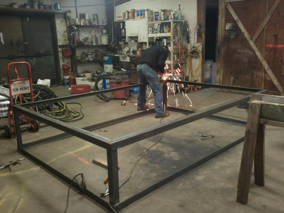Build Custom Frame for Commercial Roof Top Unit