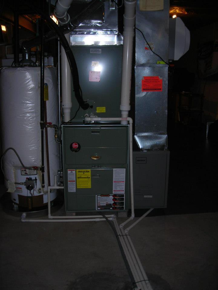 Rheem Brand - 95% Modulating Condensing Gas Furnace