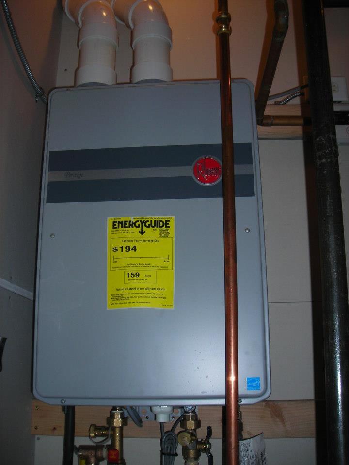 Tankless Water Heater - Rheem Brand